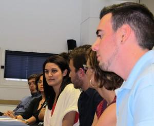 La diputada Mireia Mollà amb militants del Bloc de Xàbia i d'Iniciativa